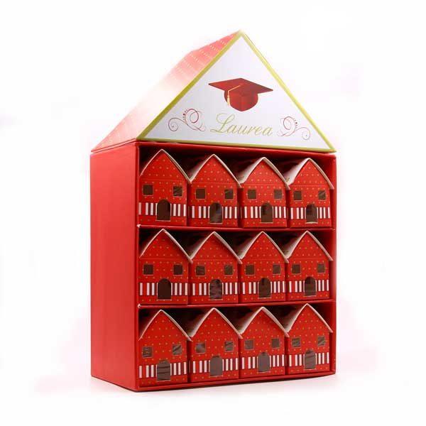 Set da 24 scatoline porta confetti a forma di casetta in cartone