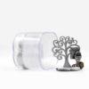 bomboniera comunione Albero della vita in legno con calice in resina e box portaconfetti in plexiglass