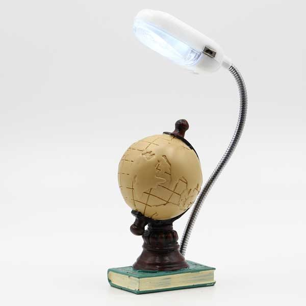 Mappamondo in resina con lampada led