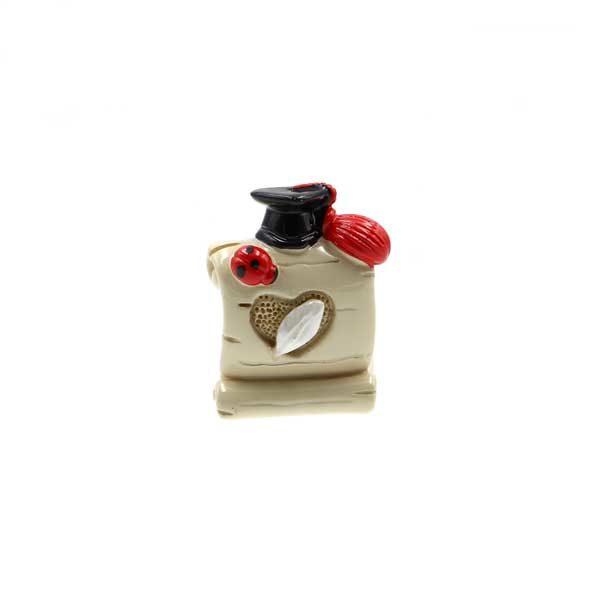 bomboniera laurea Magnete in resina, 4 modelli assortiti