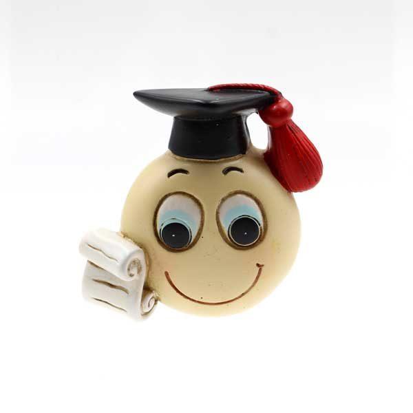 bomboniera laurea Magnete in resina a forma di emonji, 4 modelli assortiti