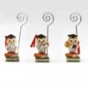 Memo clip con gufo su libri, 3 modelli assortiti